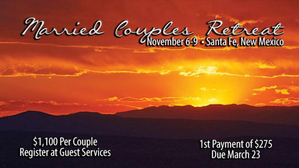 married couples retreat santa fe faith christian. Black Bedroom Furniture Sets. Home Design Ideas