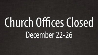 Church Offices Closed