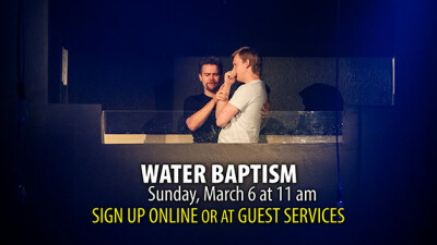 Water Baptism on March 6