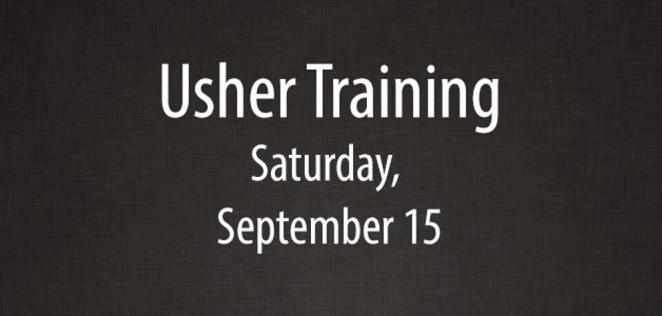 Usher Training