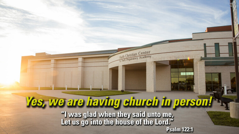 Yes, we are having church!